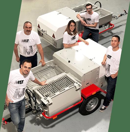 Equipe MATCO Machine à projeter enduit façade
